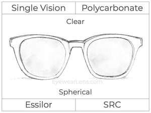 Single Vision - Polycarbonate - Clear - Spherical