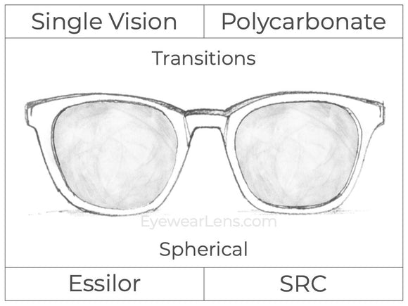 Single Vision - Polycarbonate - Transitions Signature - Spherical