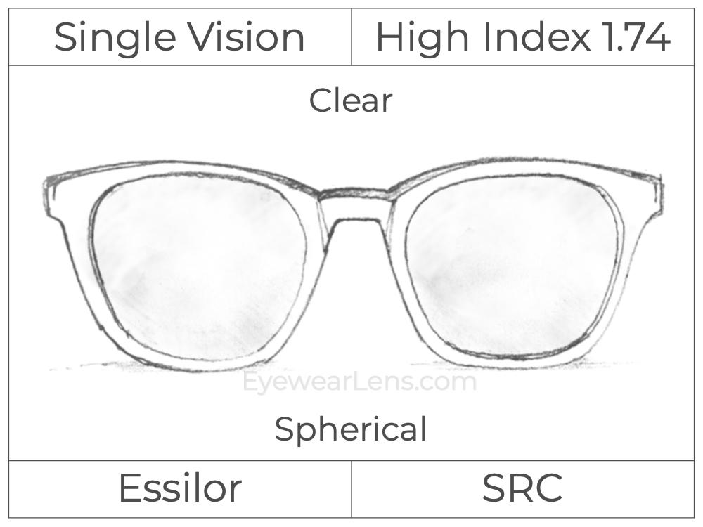 Single Vision - High Index 1.74 - Clear - Spherical