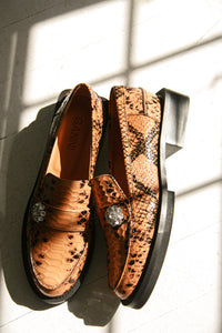 Ganni Embossed Jewel Loafer