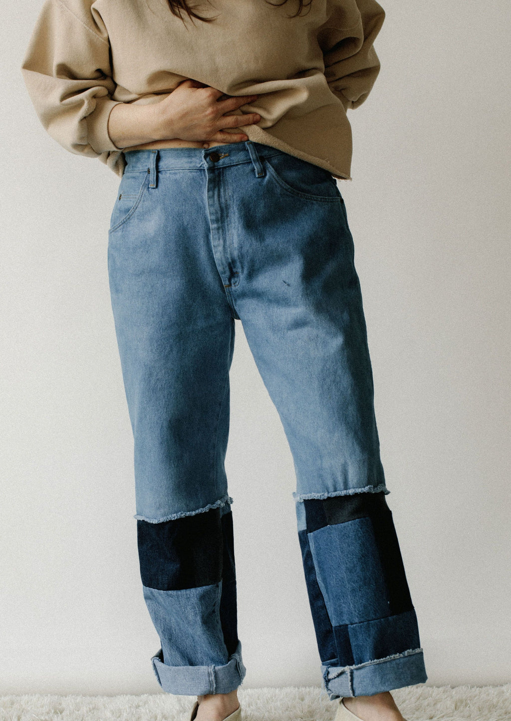 Hi Julez Reworked Patched Denim