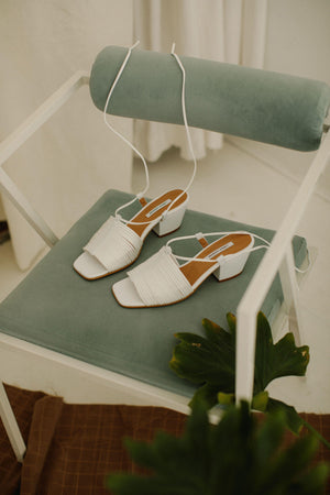 About Arianne Martin sandal white gastown shopping
