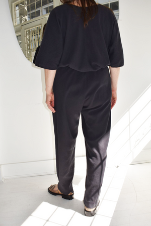 Black Crane Easy Pant - Faded Black
