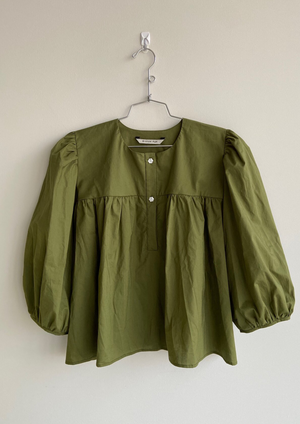 Bronze Age Posey Blouse - Olive *made to order*