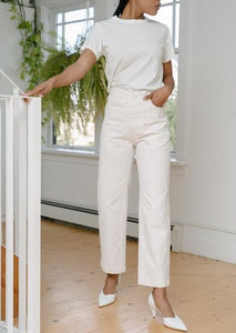 Jesse Kamm Handy Pant - Salt White
