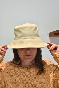 Clyde Lambskin Ebi Bucket Hat - Bone