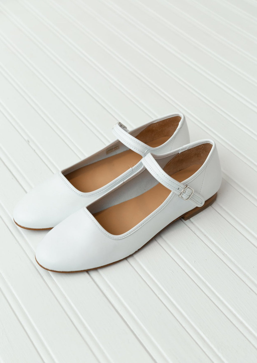 Caron Callahan Ellie Mary Jane | White Nappa Leather