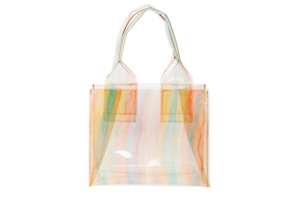 Clyde Snack Bag - Silk Chiffon Orange  Vinyl