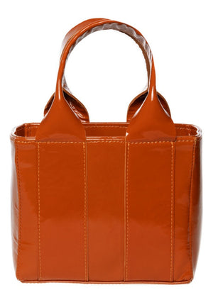 Clyde Snack Bag - Caramel Patent