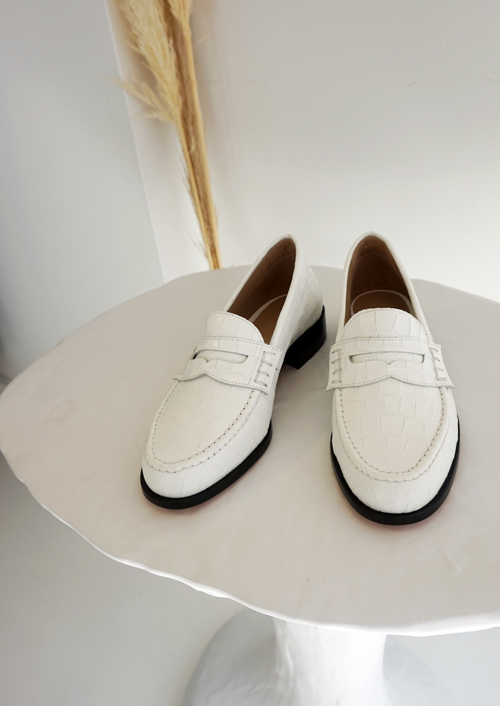 Maryam Nassir Zadeh Suffolk Loafer - White Croc