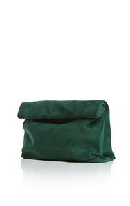 Marie Turnor Lunch Clutch - Forest Suede
