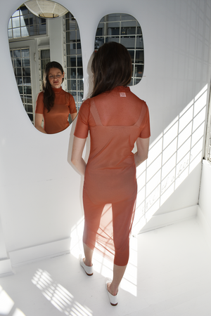 Michons Marigot Orange Mesh Dress