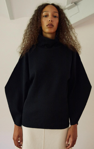 Rus Koppu Sweater - Ink. Turtleneck sweater crafted from a fine merino wool blend. FW20. Gastown.
