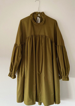 Bronze Age Lia Dress Moss * Made to Order*