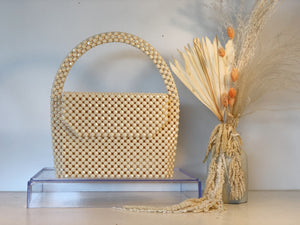 The Dewdrop Shop Cream Waterfall Bag