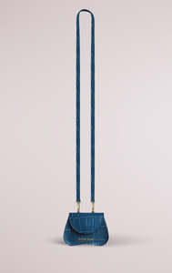 Blame Lilac Amorsito Mini Bag - Petrol Blue