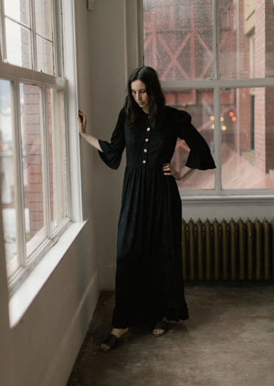 Batsheva Button Up Long Prairie Dress