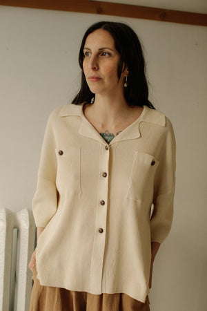 Monica Cordera Oversized Polo Shirt - Ivory, o/s
