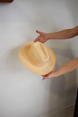 Clyde Cowboy Hat - Peach