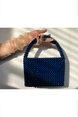 The Dewdrop Shop Navy Waterfall Bag