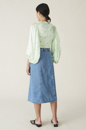 Ganni Washed Denim Skirt
