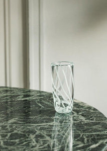 Bri Williams Blown Glass Vase | Mint Stripes