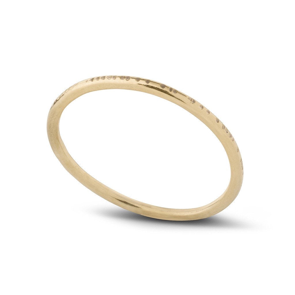 Kara Yoo Dent Stacking Ring 14K YGF