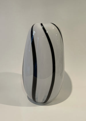 Bri Williams Striped Blown Glass Vase