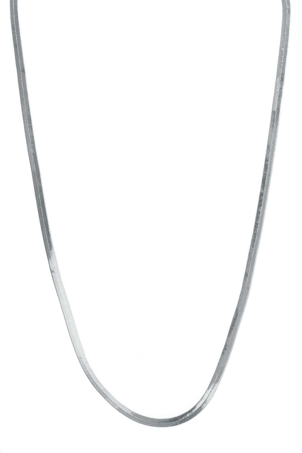 Necklace, Silver, Herringbone