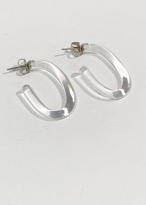 Leigh Miller Small Glass Hoops