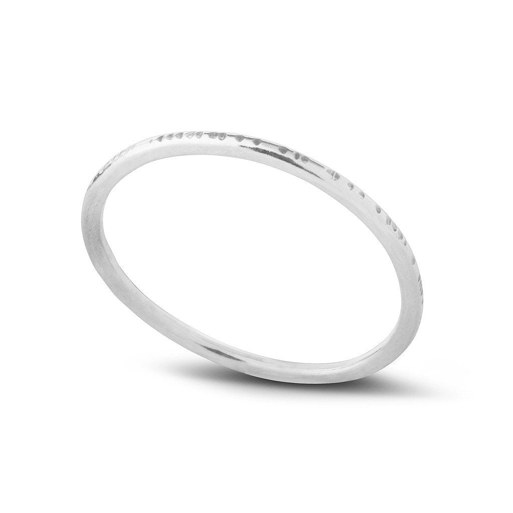 Kara Yoo Dent Stacking Ring SS