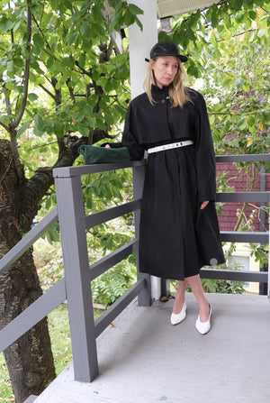 Amomento High Neck Trench Coat