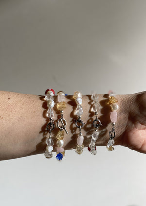 Hothams Quartz & Flower Bracelet
