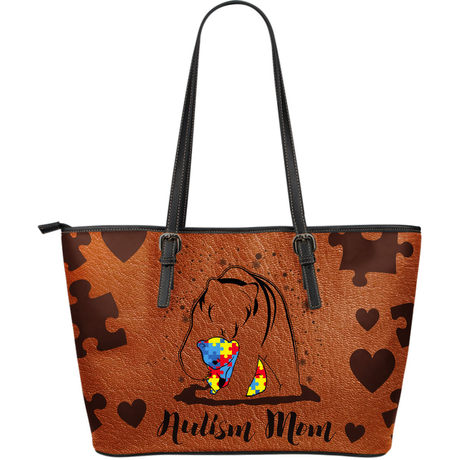 Autism Leather Bag : Autism Mom