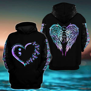 Dragonfly Suicide Prevention Awareness Hoodie Full Print : You Matter No Story Should End Too Soon