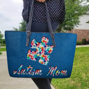 Autism Leather Bag: Autism Mom
