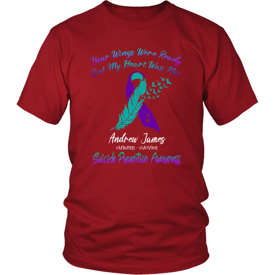 Personalized Suicide Prevention Awareness Custom Shirt : You Wings C01