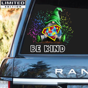 Gnome Autism Awareness Sticker : Be Kind