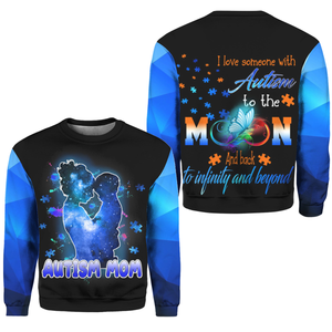 Autism Awareness Hoodie Full Print : I Love someone With Autism