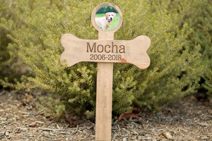 Personalized Photo Name Dades Dog Memorial Cross