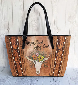 Hippie Style Leather Bag : Hippie Heart Gypsy Soul