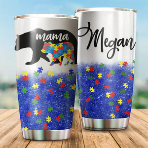 Personalized Name Photo Autism Tumbler : Name&Photo