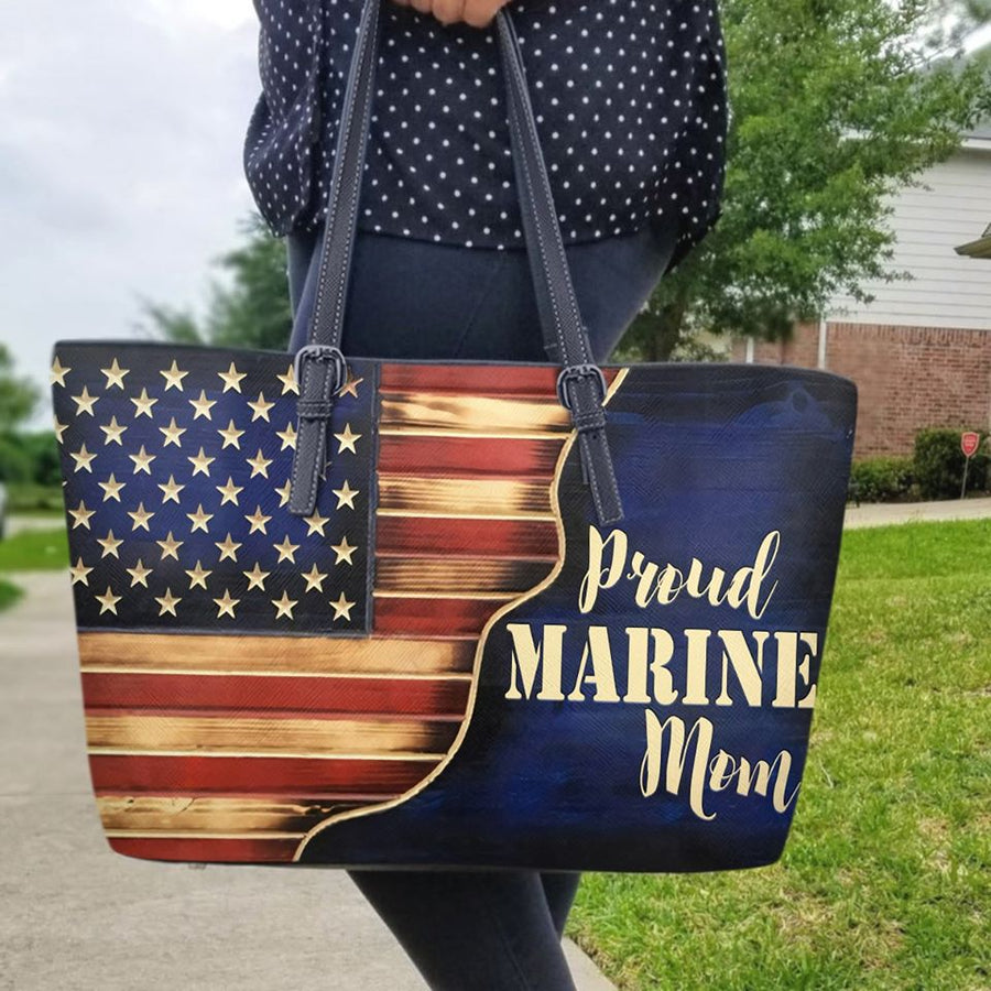 Proud Veterans wife - Custome Name Leather Bag