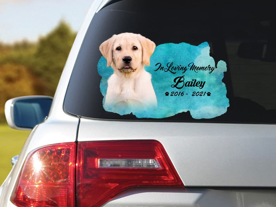 Personalized Photo Name Memorial Dog Sticker : In Loving Memory