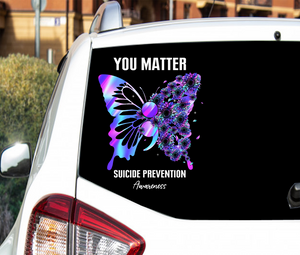 Suicide Awareness Ribbon Sticker : You Matter