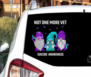 Gnome Suicide Awareness Sticker : Not One More Vet