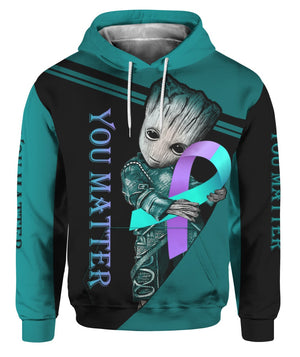 Suicide Prevention Awareness Hoodie Full Print : You Matter