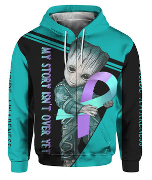 Suicide Awareness Hoodie Full Print : My Story Isn't Over Yet