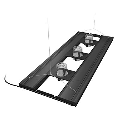 Aquatic Life - 4 Lamp T5HO LED Hybrid Fixture (Black) - Wais Aquarium