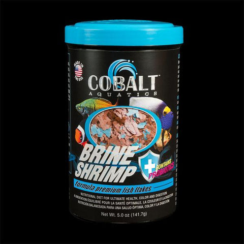 Cobalt Aquatics - Brine Shrimp Flakes 5oz (141.7g) - Wais Aquarium